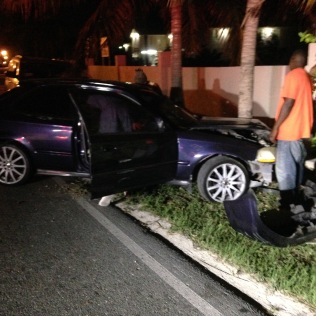 Tuesday, another late night crash on the curve.