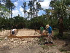 Dick also helped with some of the foundation work on the new cabin