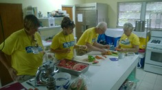 They helped us prepare meals