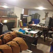 The basement at our parent's house needed to be addressed. Our things needed to be moved.