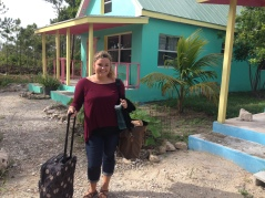 Micah Godsey leaving her cottage for the last time.