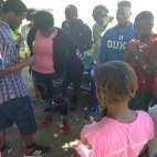 Flyer distribution at BYN Bible Study at College Of Bahamas