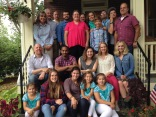 Following the morning service we had lunch at Doug Plank's home with past E-team members.