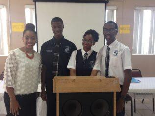 CV Bethel debate team and their coach.
