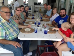 Dean and Karin Siler blessed us with a meal at Blue Sail.