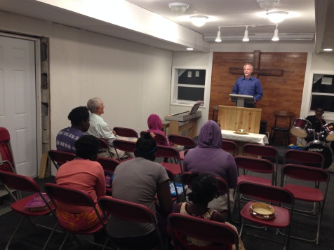 Tim preached the Sunday evening service