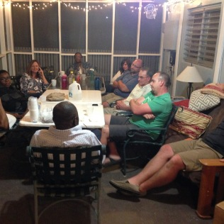 Hosted the Moss's and Humes's at our house for an evening when Crossway was here.