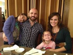 Brad Perry (missions pastor) with wife Kasey and daughters