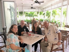 Lunch at Captains Table in Lyford Cay