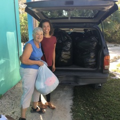 Debbie and Faye taking donations to Great Commission Ministries